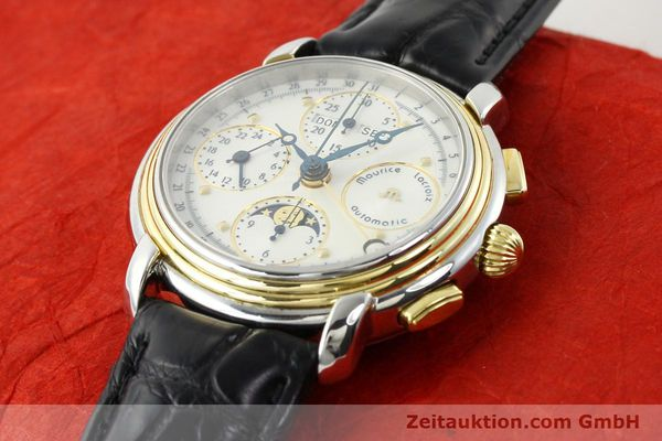 Used luxury watch Maurice Lacroix Kalender steel / gold automatic Kal. ETA 7750 Ref. 66412  | 141364 01