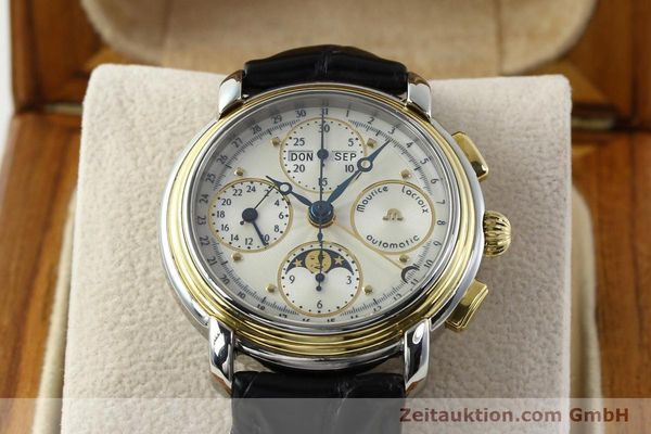 Used luxury watch Maurice Lacroix Kalender steel / gold automatic Kal. ETA 7750 Ref. 66412  | 141364 07