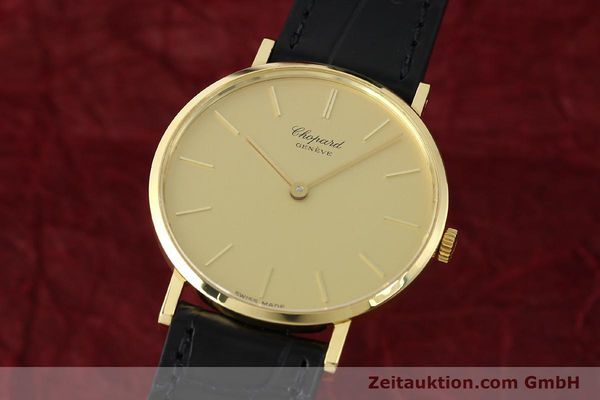 Used luxury watch Chopard * 18 ct gold manual winding Kal. Peseux 7001 Ref. 1013  | 141366 04