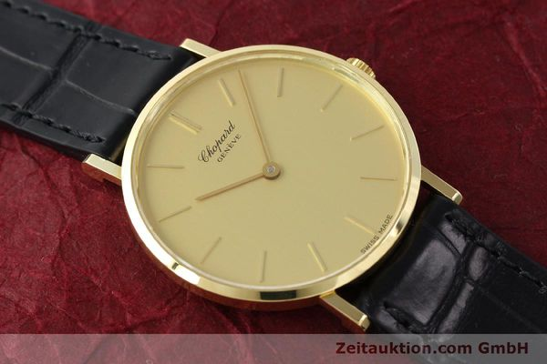 Used luxury watch Chopard * 18 ct gold manual winding Kal. Peseux 7001 Ref. 1013  | 141366 15