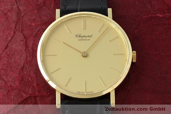 Used luxury watch Chopard * 18 ct gold manual winding Kal. Peseux 7001 Ref. 1013  | 141366 16