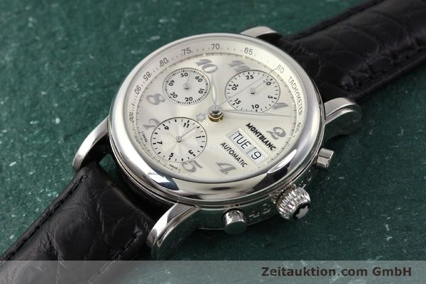 Used luxury watch Montblanc Meisterstück chronograph steel automatic Kal. 4810501 ETA 7750 Ref. 7016  | 141373 01