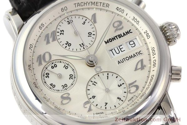 Used luxury watch Montblanc Meisterstück chronograph steel automatic Kal. 4810501 ETA 7750 Ref. 7016  | 141373 02