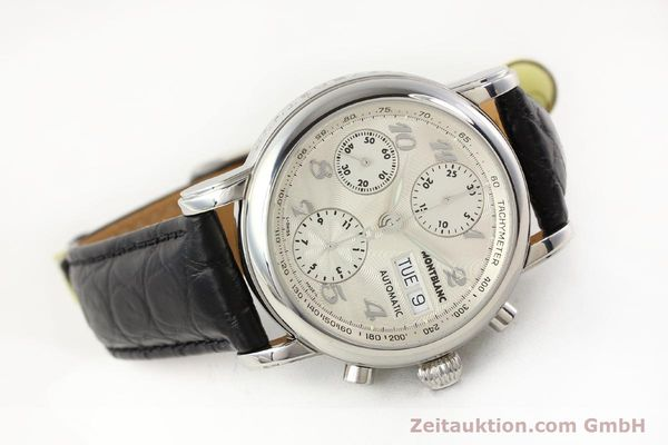 Used luxury watch Montblanc Meisterstück chronograph steel automatic Kal. 4810501 ETA 7750 Ref. 7016  | 141373 03