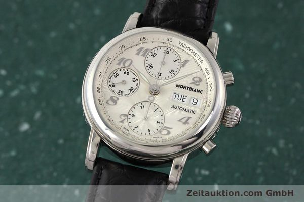 Used luxury watch Montblanc Meisterstück chronograph steel automatic Kal. 4810501 ETA 7750 Ref. 7016  | 141373 04