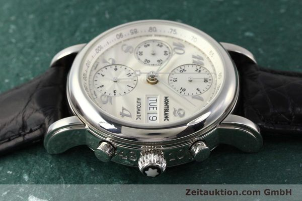 Used luxury watch Montblanc Meisterstück chronograph steel automatic Kal. 4810501 ETA 7750 Ref. 7016  | 141373 05