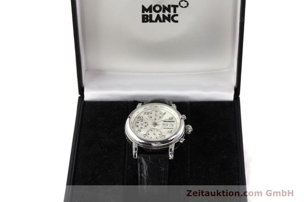 Used luxury watch Montblanc Meisterstück chronograph steel automatic Kal. 4810501 ETA 7750 Ref. 7016  | 141373 07