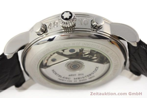 Used luxury watch Montblanc Meisterstück chronograph steel automatic Kal. 4810501 ETA 7750 Ref. 7016  | 141373 11