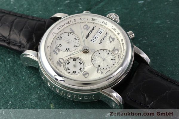 Used luxury watch Montblanc Meisterstück chronograph steel automatic Kal. 4810501 ETA 7750 Ref. 7016  | 141373 15