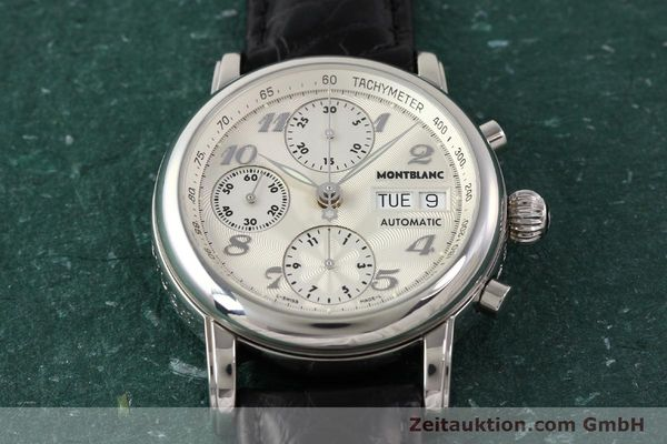 Used luxury watch Montblanc Meisterstück chronograph steel automatic Kal. 4810501 ETA 7750 Ref. 7016  | 141373 16