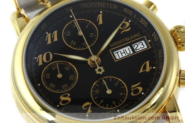 Used luxury watch Montblanc Meisterstück chronograph gold-plated automatic Kal. 4810501 ETA 7750 Ref. 7001  | 141376 02