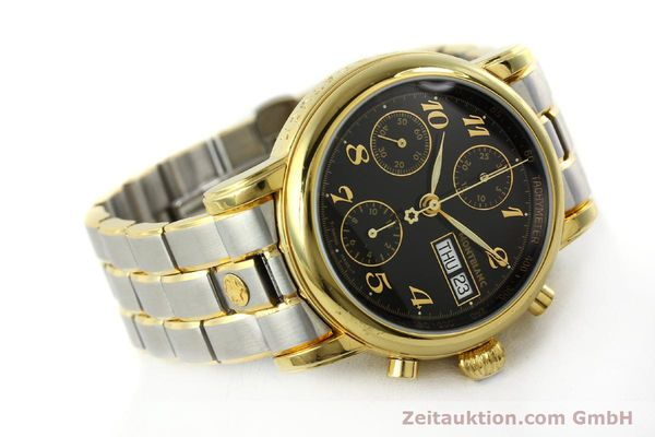 Used luxury watch Montblanc Meisterstück chronograph gold-plated automatic Kal. 4810501 ETA 7750 Ref. 7001  | 141376 03