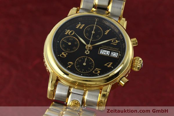 Used luxury watch Montblanc Meisterstück chronograph gold-plated automatic Kal. 4810501 ETA 7750 Ref. 7001  | 141376 04