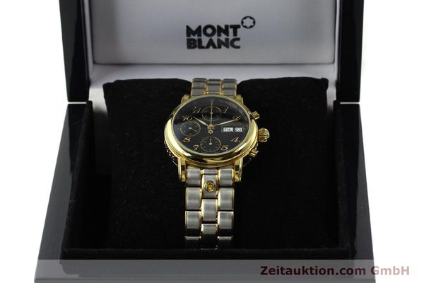 Used luxury watch Montblanc Meisterstück chronograph gold-plated automatic Kal. 4810501 ETA 7750 Ref. 7001  | 141376 07