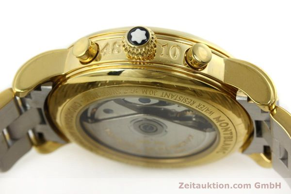 Used luxury watch Montblanc Meisterstück chronograph gold-plated automatic Kal. 4810501 ETA 7750 Ref. 7001  | 141376 08