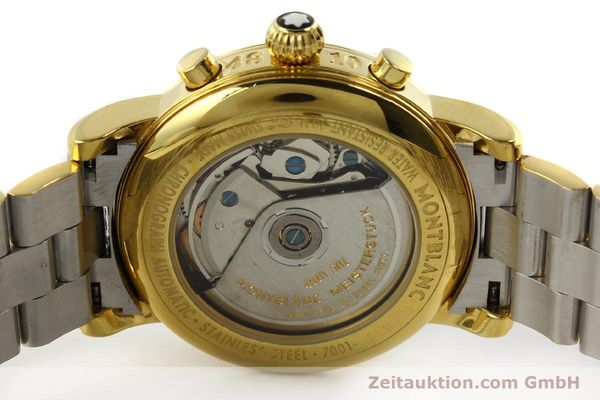 Used luxury watch Montblanc Meisterstück chronograph gold-plated automatic Kal. 4810501 ETA 7750 Ref. 7001  | 141376 09