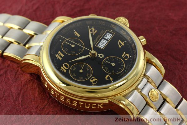 Used luxury watch Montblanc Meisterstück chronograph gold-plated automatic Kal. 4810501 ETA 7750 Ref. 7001  | 141376 14