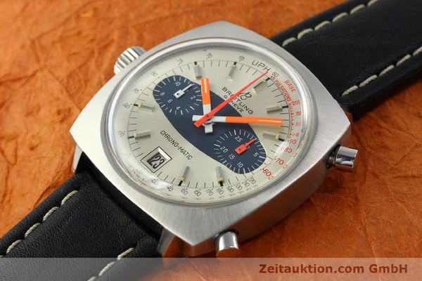 gebrauchte Luxusuhr Breitling Chrono-Matic Chronograph Stahl Automatik Kal. 11 Ref. 2111  | 141379 01