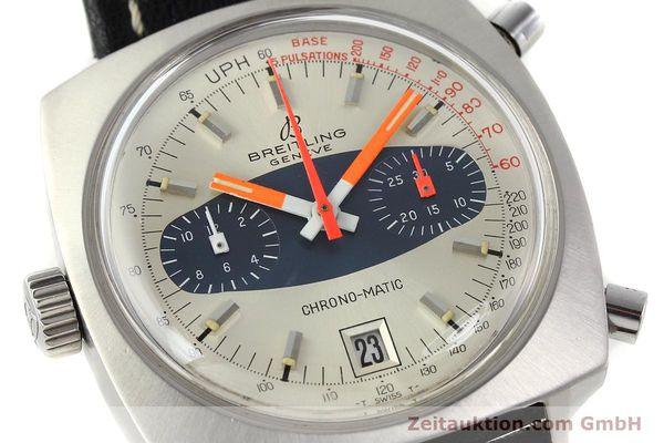 gebrauchte Luxusuhr Breitling Chrono-Matic Chronograph Stahl Automatik Kal. 11 Ref. 2111  | 141379 02