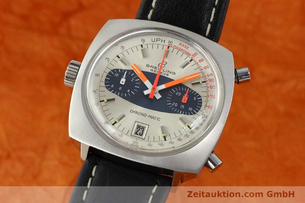 gebrauchte Luxusuhr Breitling Chrono-Matic Chronograph Stahl Automatik Kal. 11 Ref. 2111  | 141379 04