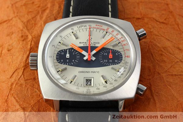 gebrauchte Luxusuhr Breitling Chrono-Matic Chronograph Stahl Automatik Kal. 11 Ref. 2111  | 141379 14