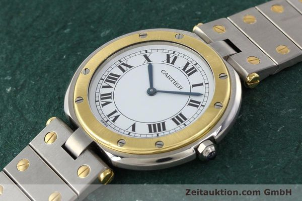 Used luxury watch Cartier Santos Ronde steel / gold quartz Kal. 81  | 141380 01