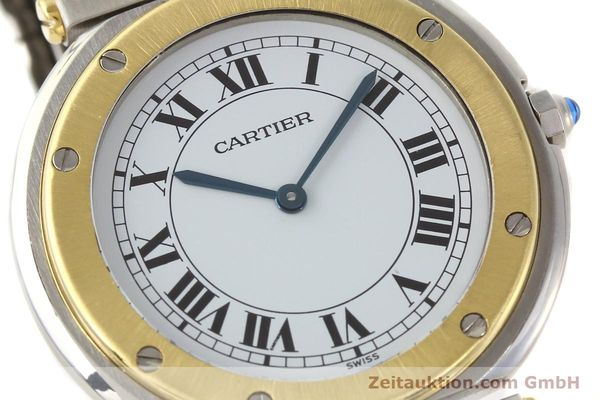 Used luxury watch Cartier Santos Ronde steel / gold quartz Kal. 81  | 141380 02
