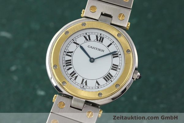 Used luxury watch Cartier Santos Ronde steel / gold quartz Kal. 81  | 141380 04