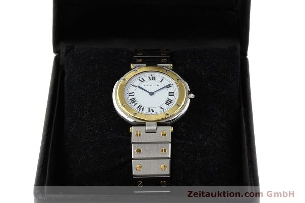 Used luxury watch Cartier Santos Ronde steel / gold quartz Kal. 81  | 141380 07