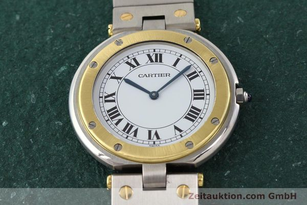 Used luxury watch Cartier Santos Ronde steel / gold quartz Kal. 81  | 141380 13