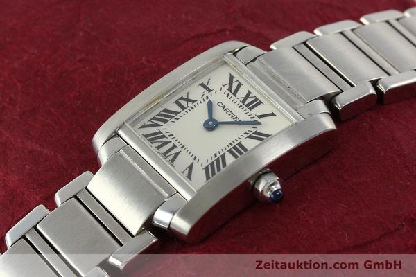 Used luxury watch Cartier Tank steel quartz Kal. 057  | 141385 01