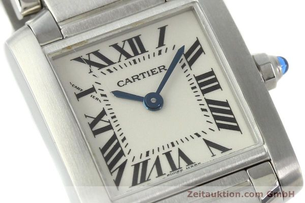 Used luxury watch Cartier Tank steel quartz Kal. 057  | 141385 02