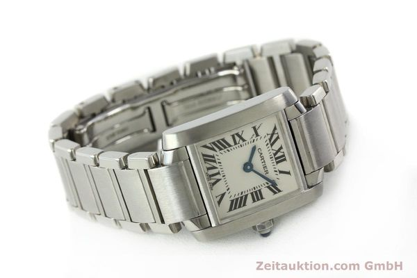 Used luxury watch Cartier Tank steel quartz Kal. 057  | 141385 03