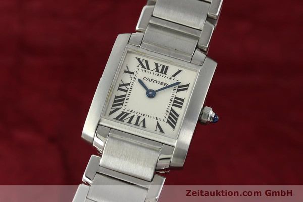 Used luxury watch Cartier Tank steel quartz Kal. 057  | 141385 04