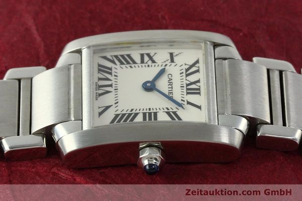 Used luxury watch Cartier Tank steel quartz Kal. 057  | 141385 05