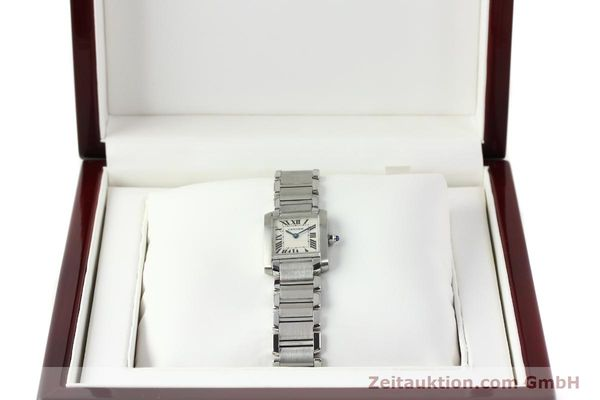 Used luxury watch Cartier Tank steel quartz Kal. 057  | 141385 07