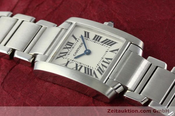 Used luxury watch Cartier Tank steel quartz Kal. 057  | 141385 13