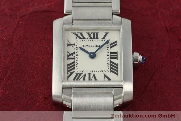 Used luxury watch Cartier Tank steel quartz Kal. 057  | 141385 14