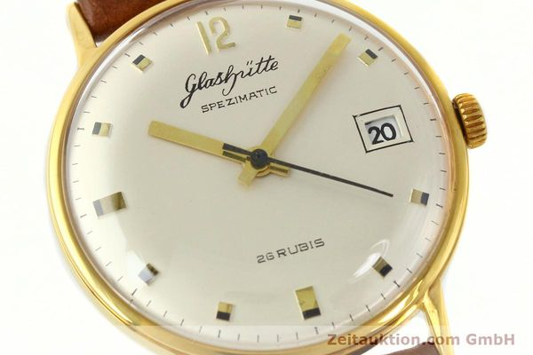 Used luxury watch Glashütte Spezimatic gold-plated automatic Kal. 75  | 141388 02