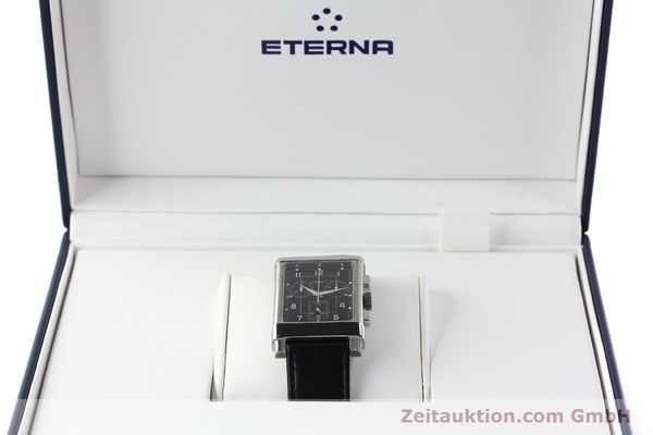 Used luxury watch Eterna 1935 chronograph steel quartz Kal. ETA 251.471 Ref. 8290.41  | 141389 07