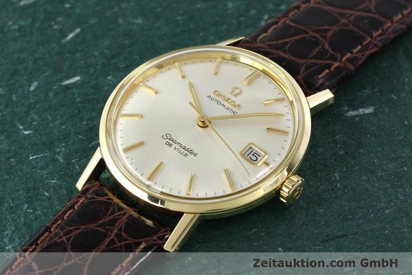 Used luxury watch Omega Seamaster 14 ct yellow gold automatic Ref. 166020SC  | 141390 01