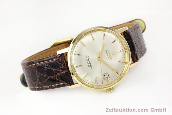 Used luxury watch Omega Seamaster 14 ct yellow gold automatic Ref. 166020SC  | 141390 03