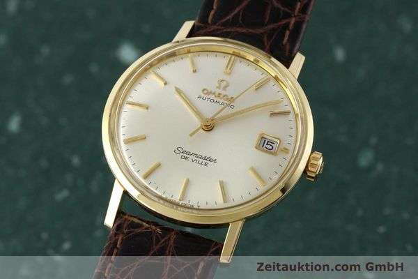 Used luxury watch Omega Seamaster 14 ct yellow gold automatic Ref. 166020SC  | 141390 04