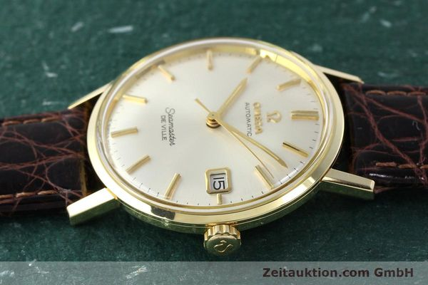 Used luxury watch Omega Seamaster 14 ct yellow gold automatic Ref. 166020SC  | 141390 05
