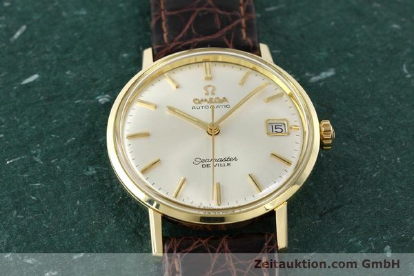 Used luxury watch Omega Seamaster 14 ct yellow gold automatic Ref. 166020SC  | 141390 15