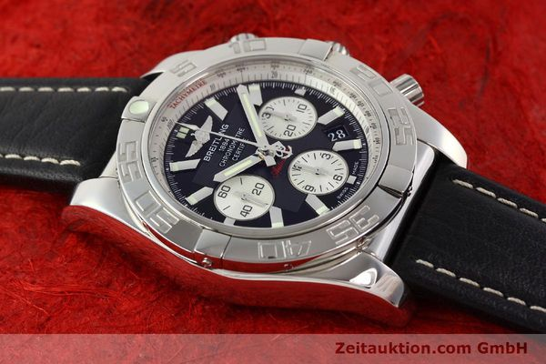 Used luxury watch Breitling Chronomat 44 chronograph steel automatic Kal. B01 Ref. AB0110  | 141405 13