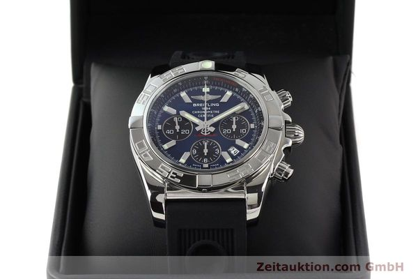 Used luxury watch Breitling Chronomat 44 chronograph steel automatic Kal. B01 Ref. AB0110  | 141407 07