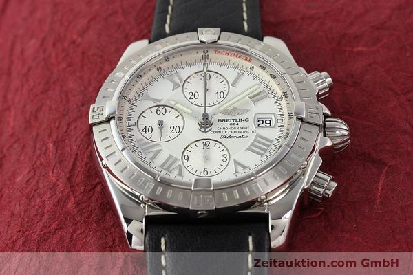 Used luxury watch Breitling Crosswind chronograph steel automatic Kal. B13 ETA 7750 Ref. A13356  | 141412 14
