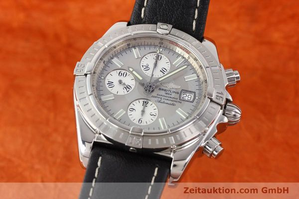 Used luxury watch Breitling Crosswind chronograph steel automatic Kal. B13 ETA 7750 Ref. A13356  | 141413 04