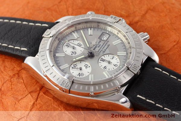 Used luxury watch Breitling Crosswind chronograph steel automatic Kal. B13 ETA 7750 Ref. A13356  | 141413 13